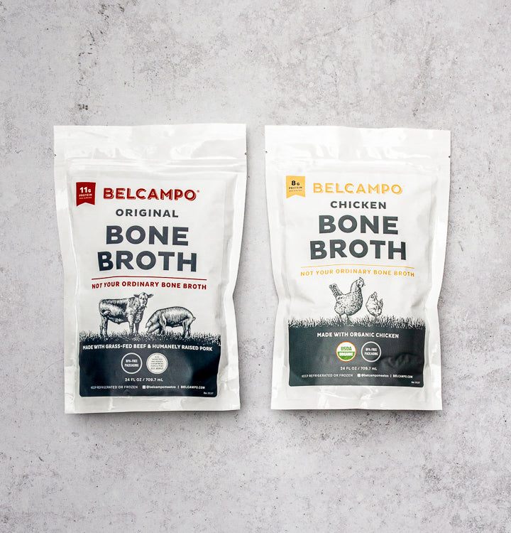 Mixed Bone Broth Pouches, 6 pack