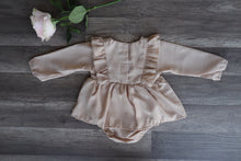 Load image into Gallery viewer, Briana Romper Dress Tan