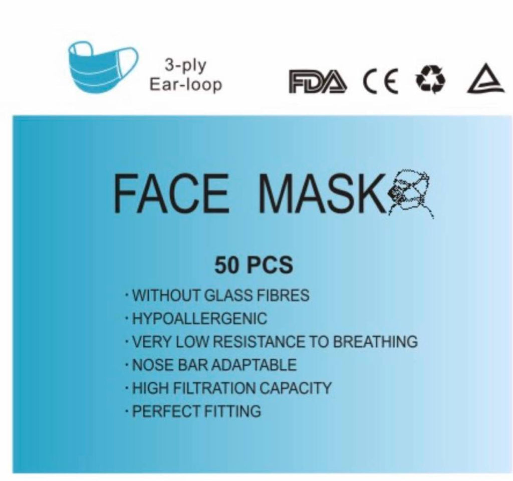 Disposable Face Mask-Pack of 50