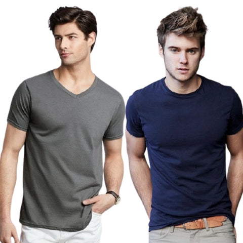 two men in t-shirts