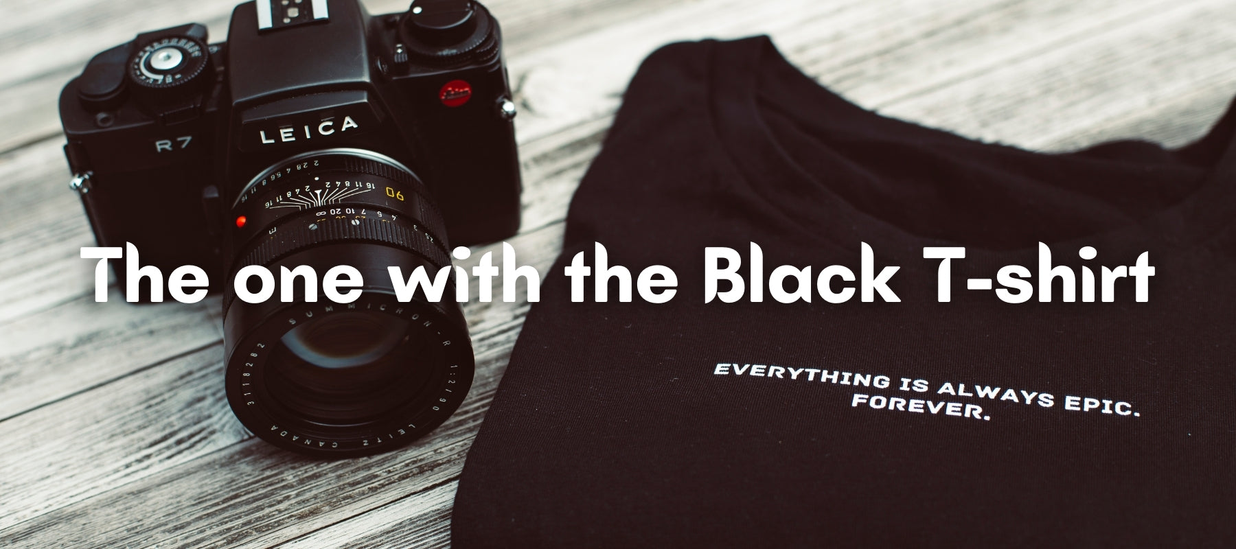 Black T-shirt with camera