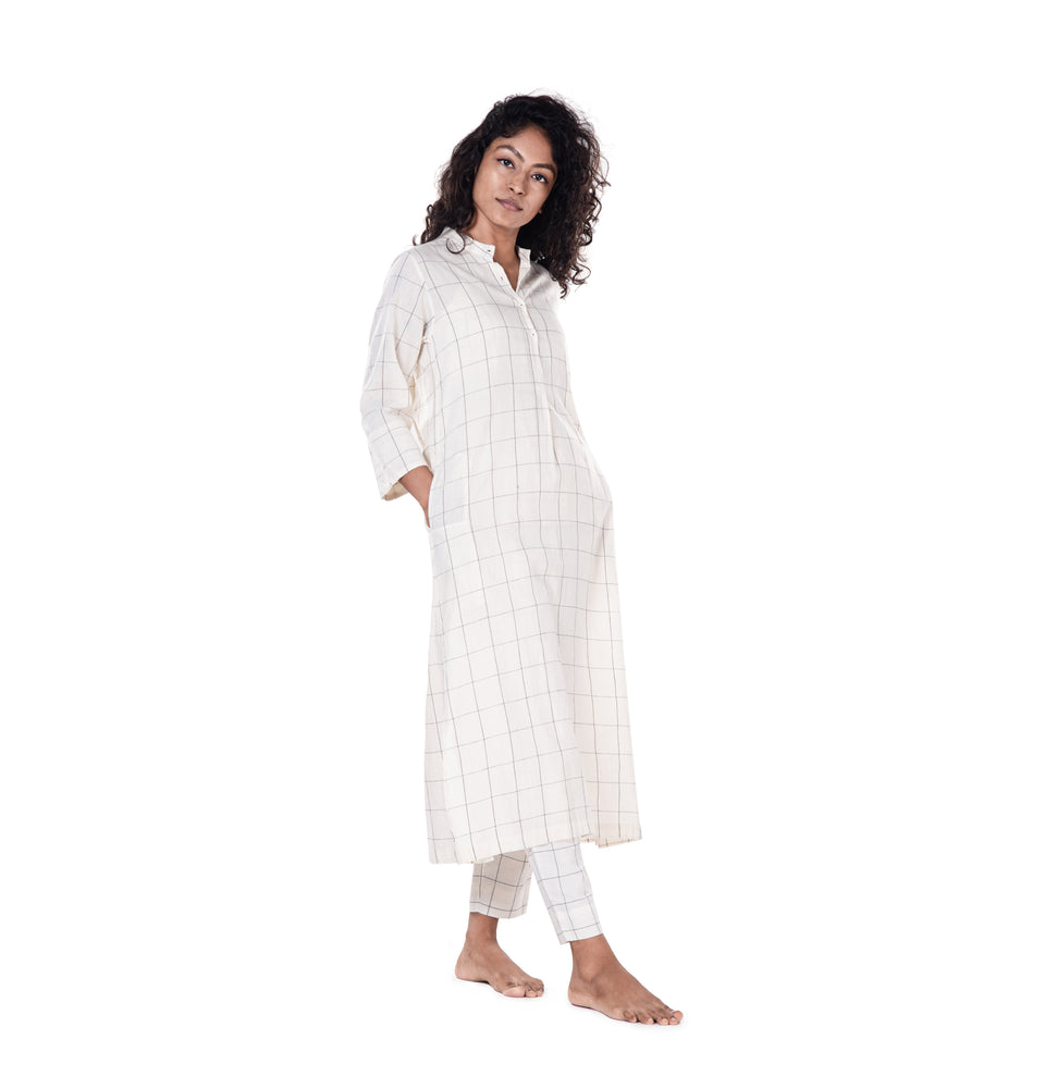 Khadi Check Tunic