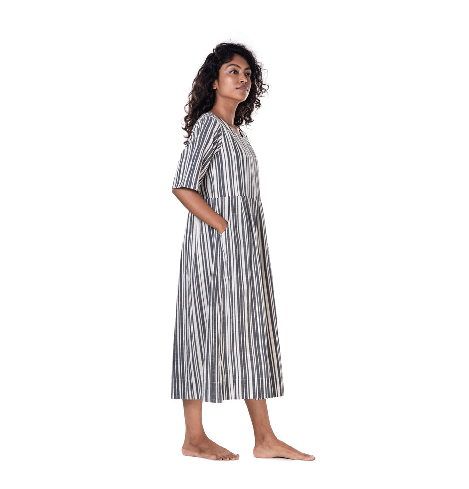 Khadi Stripe Dress