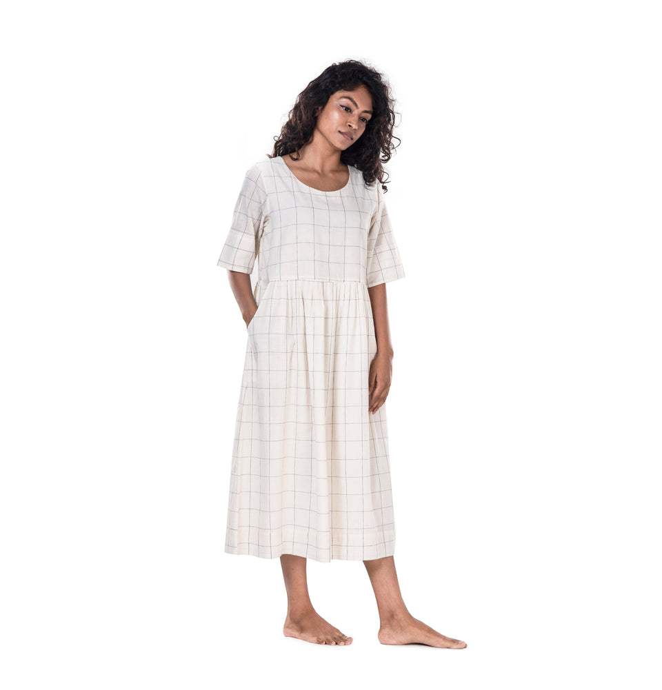 Khadi Pleated Dress