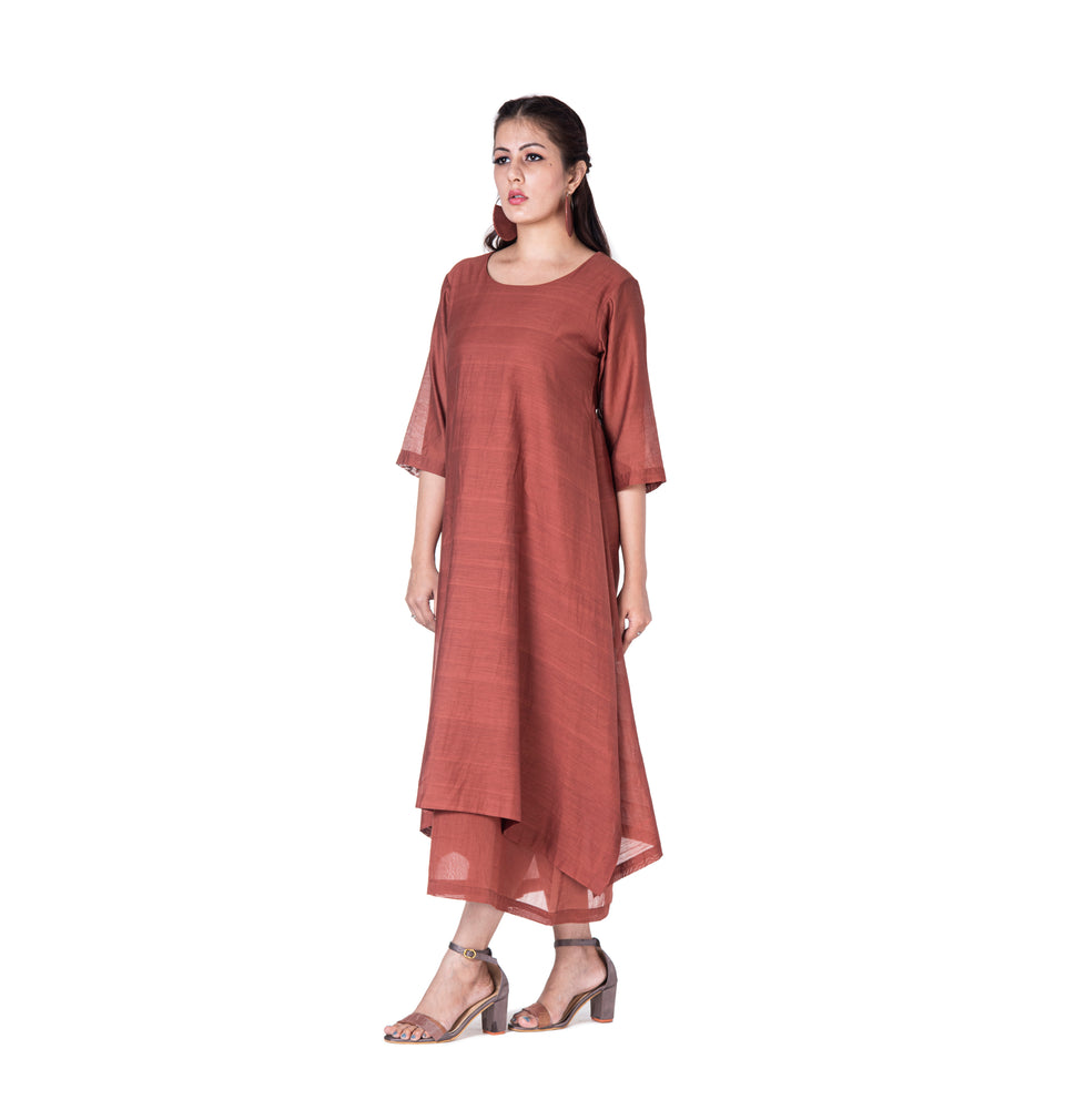 Zari Asymmetric Dress