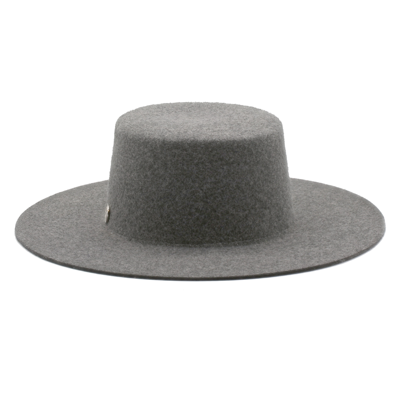 The Natural Californian - Mixed Grey Wide-Brim Wool Hat