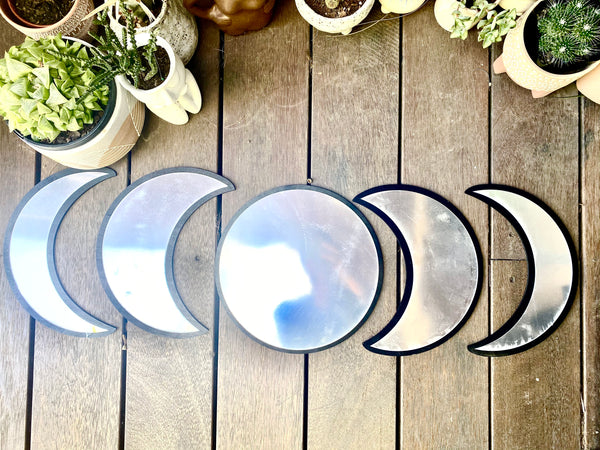 Moon Phase Mirror Set