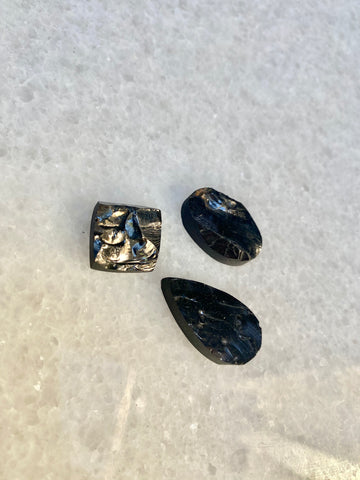 Rough Look Shungite Cabochons