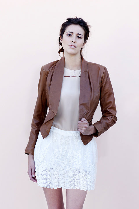 Brand New Bano eeMee Leather Jacket - Joyce's Closet  - 1