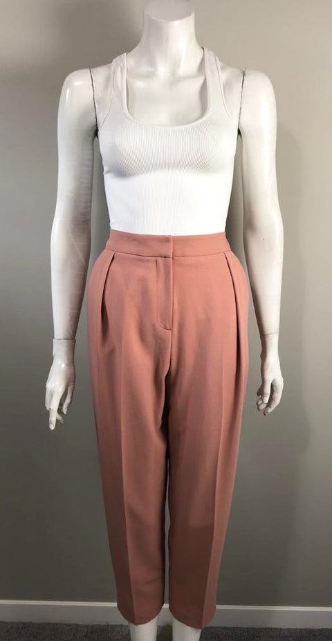 Topshop Rose Pink High Waist Trouser Size 6