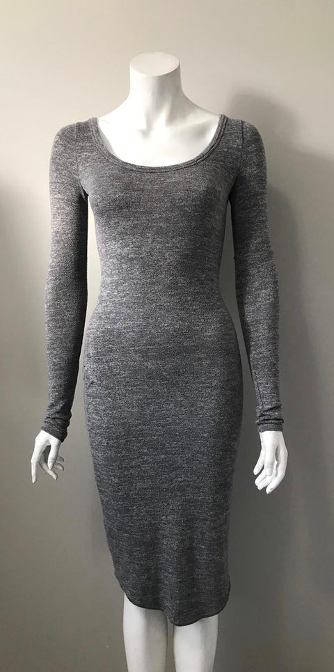 Wilfred Free Grey Long Sleeve Dress Size XXS