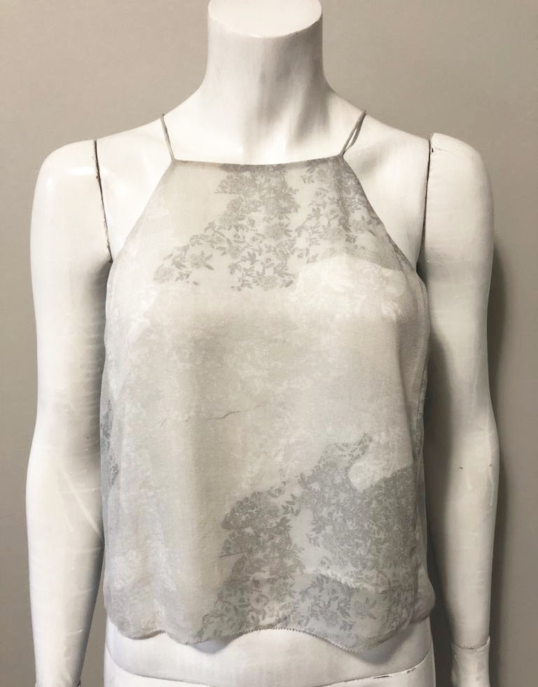 4a19f0e1840653 Wilfred Rians Grey Print Silk Tank Size S. Images   1   2   3 ...