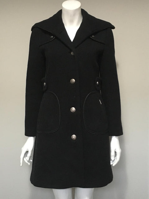 Projek Black Button-Up Wool Coat Size S