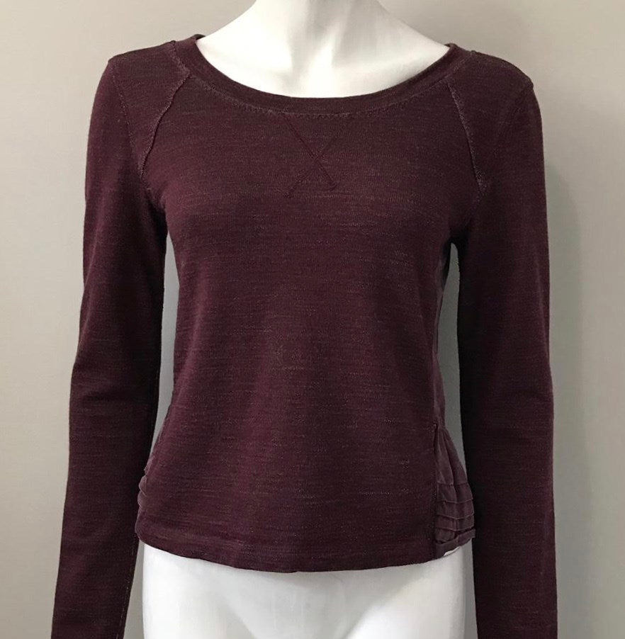 Lululemon Burgundy Fleece Please Pull Over Sweater Size 4