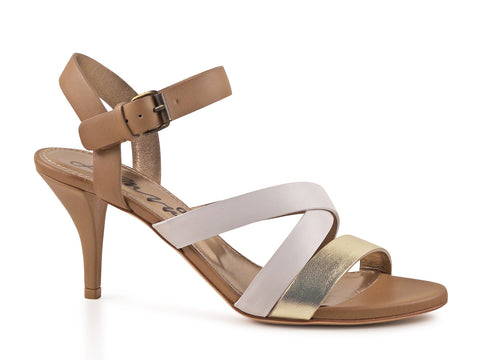 Lanvin Multi-Tone Strappy Kitten Heel Sandals - Joyce's Closet  - 1