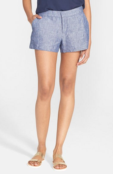 Joie Merci Blue Linen Shorts - Joyce's Closet  - 2