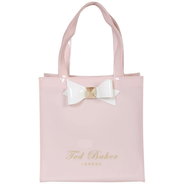 Brand New Ted Baker Large Bow Shopper Ikon Bag - Pale Pink - Joyce's Closet  - 1