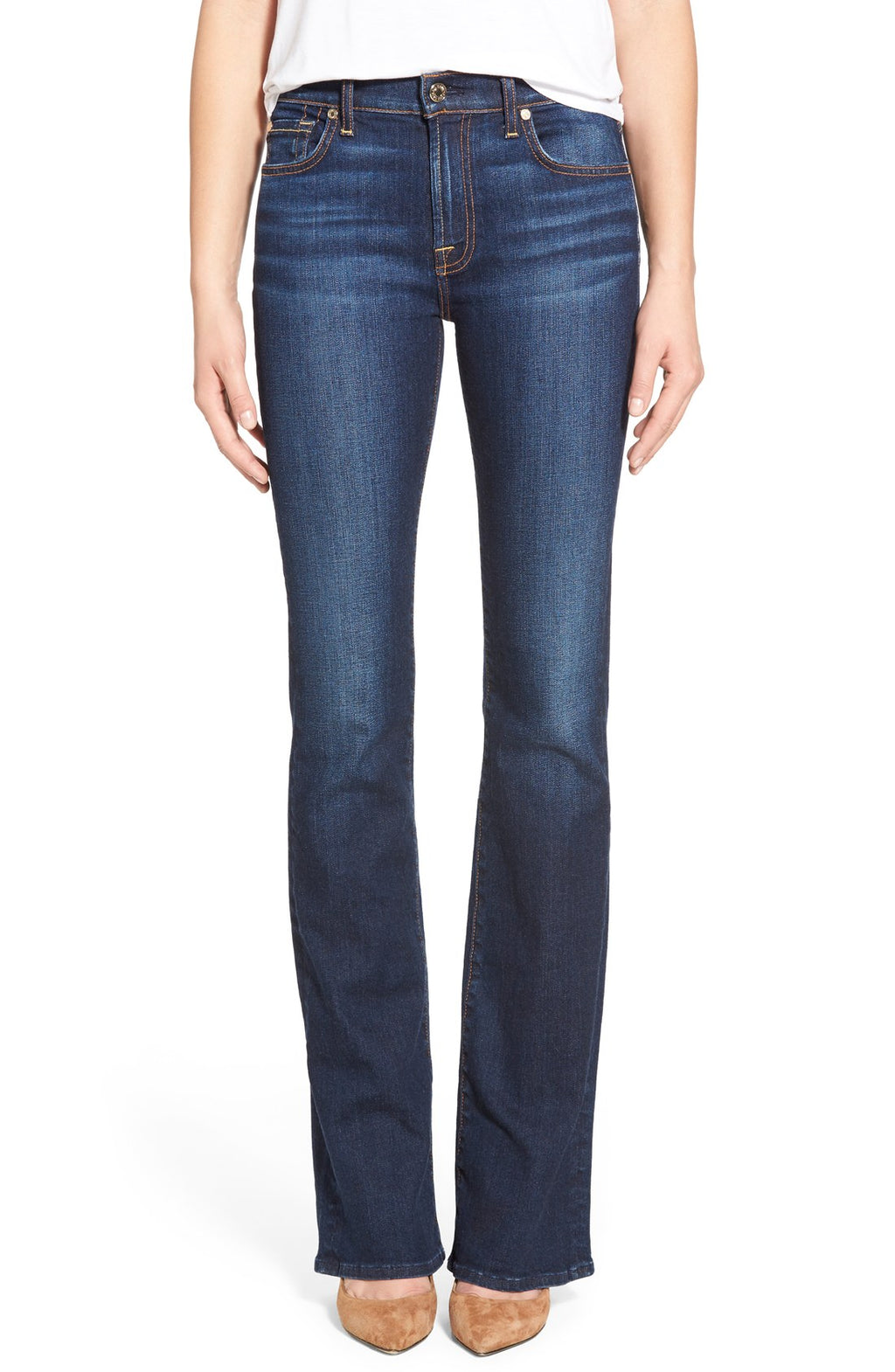 Seven For All Mankind Blue Boot-Cut Jeans Size 30