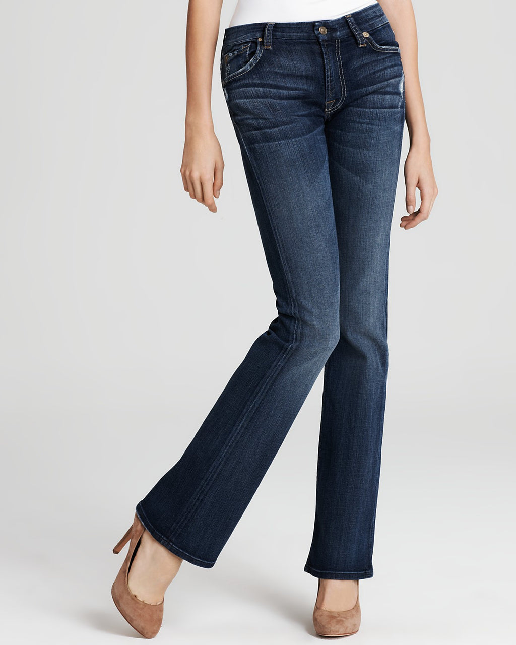7 For All Mankind Kimmie Boot-Cut Medium Wash Jeans - Joyce's Closet  - 7