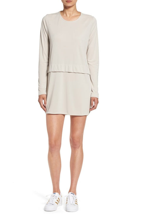 Sincerely Jules Savoy Taupe Long Sleeve Shirt Dress Size L