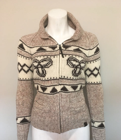 TNA Brown Lambswool Sweater Size M