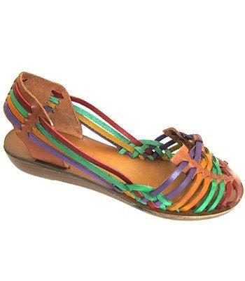 Vintage Mia Huaraches Multi- Colored Sandals Size 7.5