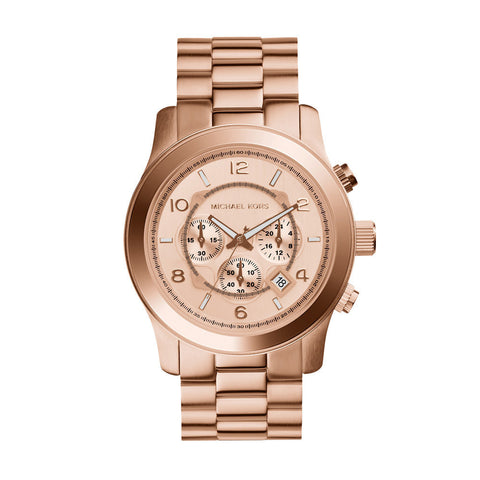 Michael Kors Large Rose Gold Runway Chronograph Watch 8096