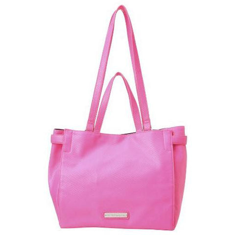 "BCBGeneration ""Nadia ""Neon Pink Vegan Leather Tote - Joyce's Closet  - 1"