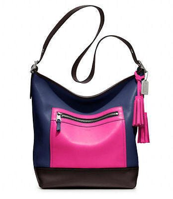 Coach Leather Colorblock Legacy Duffle Hand Bag - Joyce's Closet  - 1