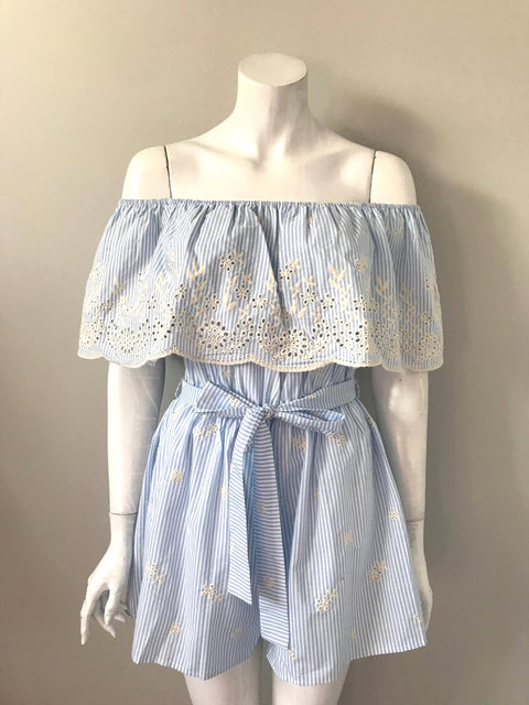 Brand New Jeuvre Blue Romper XL