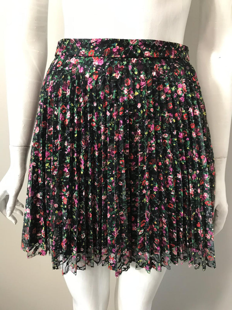 Topshop Floral Pleated Skirt Size 8