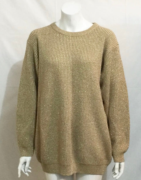 Vintage Michel Antoni Oversized Gold Sweater XL