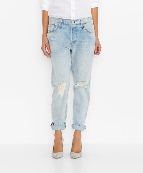 Brand New Levi's '501® CT'  Light Blue Boyfriend Jeans Size 29