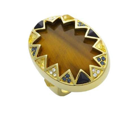 House of Harlow Tiger Eye Cocktail Ring - Joyce's Closet  - 1