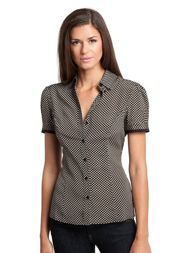 Guess By Marciano Parker Polka Dot  Silk Blouse Size S 23W4198829Y