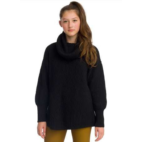 American Apparel Oversized Unisex Fisherman Black Knit Sweater - Joyce's Closet  - 1