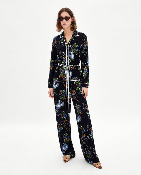 Brand New Zara Floral Jumpsuit Size S