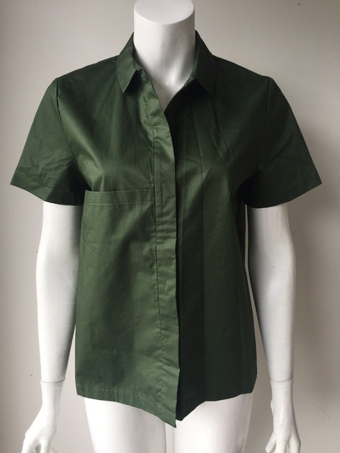 Kate Spade Saturday Green Button Up Shirt Size M