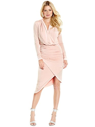 Brand New Marciano Hayley Venezia Baby Pink Asymmetrical Dress Size L