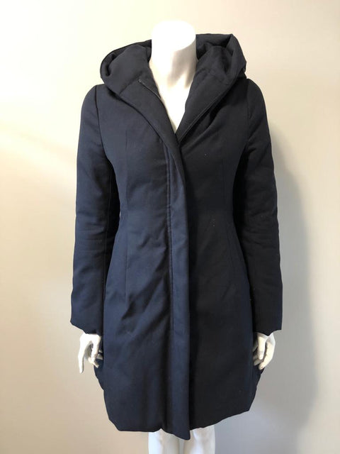 TJ Navy Blue Parka Jacket Size XS
