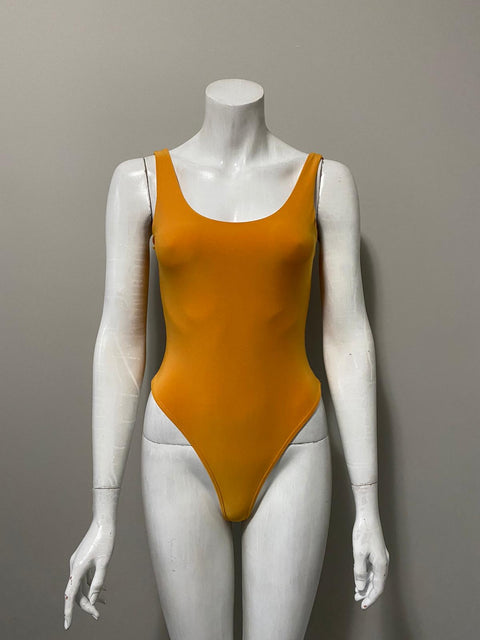 Brand New Uptown Yellow Bodysuit Size L