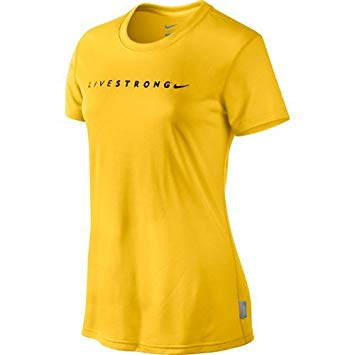 Nike Livestrong Dr-Fit Yellow Tee Shirt Size S