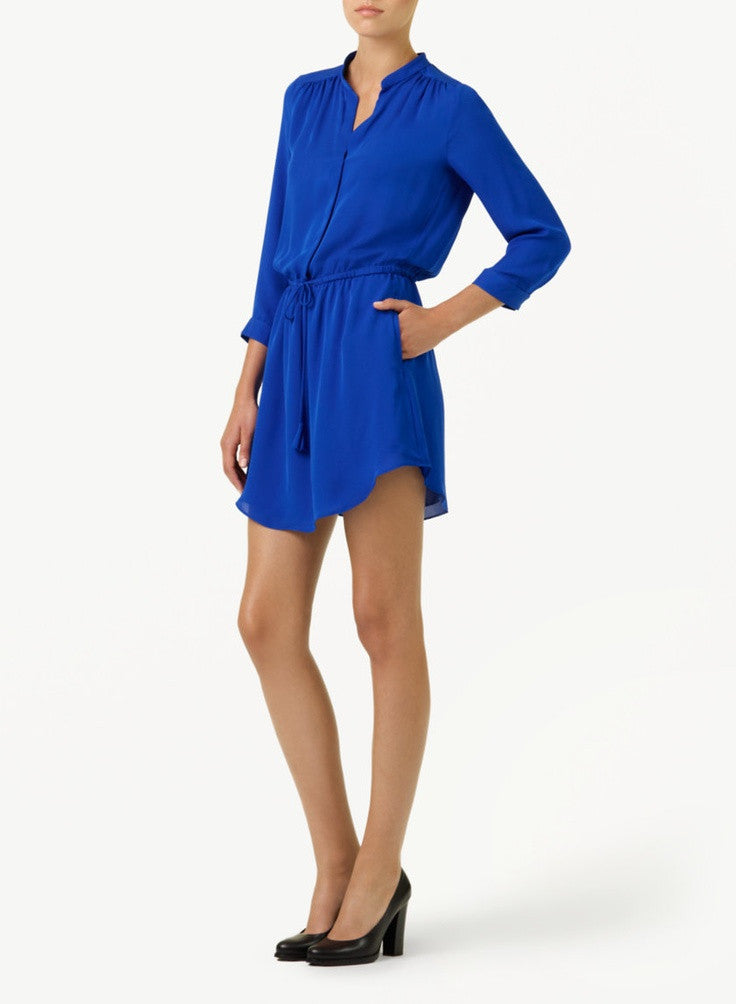 Babaton Cobalt Blue Silk Bennett Dress - Joyce's Closet  - 1