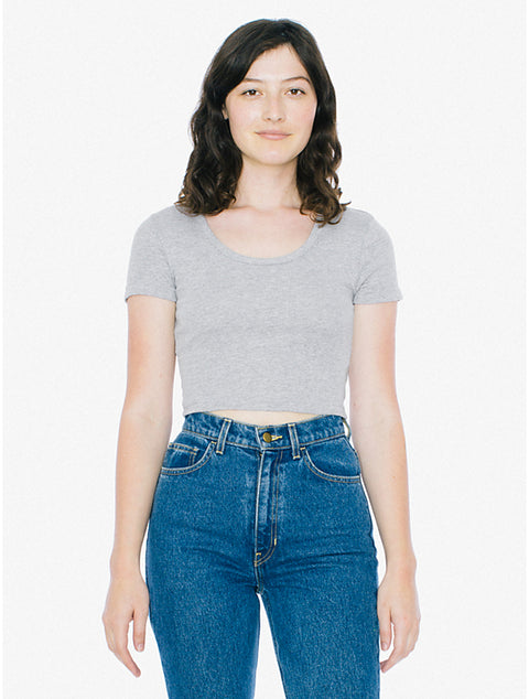 American Apparel Grey Crop Tee Size S