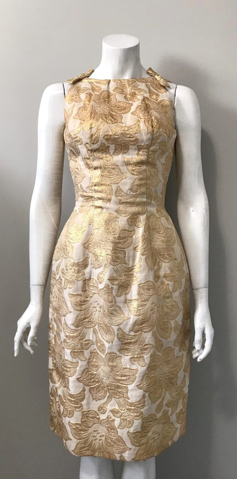 Vintage Gold & Cream Baroque Dress Size S