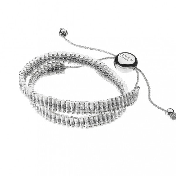 Brand New Links of London Double Pewter & White Double Wrap Bracelet - Joyce's Closet  - 1