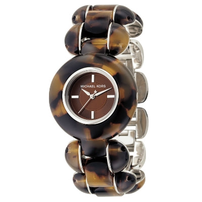 Michael Kors 4174 Brown Tortoise Round Watch