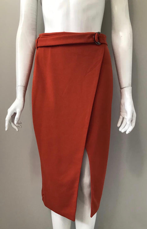Brand New Another Story Orange Pencil Skirt Size M