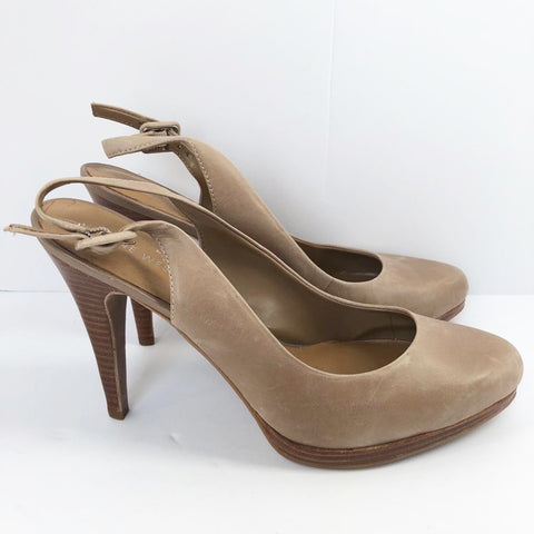 Nine West Nude Slingback Pump Size 8.5