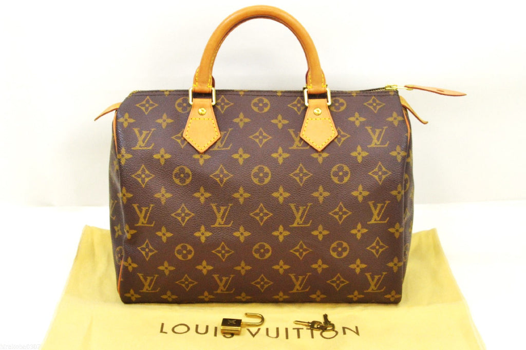 Louis Vuitton Speedy 25 Monogram Canvas Leather Bag - Joyce's Closet  - 1